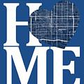 Phoenix Street Map Home Heart - Phoenix Arizona Road Map In A He by Jurq Studio