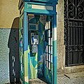 Phone Booth In Blues - Oporto by Mary Machare