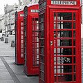 Phone Boxes On The Royal Mile by Jane Rix