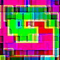 Phone Case Art Intricate Colorful Dynamic Abstract City Geometric Designs By Carole Spandau 131 Cbs  by Carole Spandau