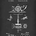 Phonograph 1878 Patent Art Black by Prior Art Design