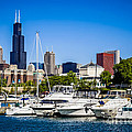 Photo Of Chicago Skyline With Burnham Harbor by Paul Velgos