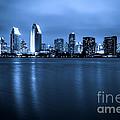Photo Of San Diego At Night Skyline Buildings by Paul Velgos