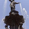 Photo Of Tyler Davidson Fountain In Cincinnati Ohio by Paul Velgos