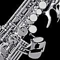 Photograph Of A Soprano Saxophone Sepia 3355.01 by M K  Miller