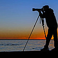 Photographer At Sunset by Jerry Gammon