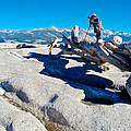 Photographer On Top Of Sentinel Dome In Yosemite Np-ca  by Ruth Hager