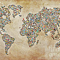 Photographer World Map by Delphimages Photo Creations