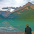 Photographers At Lake Louise In Banff National Park-ab by Ruth Hager