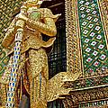 Phra Mondhop At Thai Pagoda At Grand Palace Of Thailand In Bangkok  by Ruth Hager