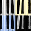 Piano Keys In Quad Colors by Rob Hans