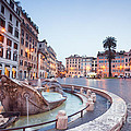 Piazza Di Spagna At Night - Rome - Italy by Matteo Colombo