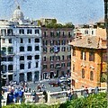Piazza Di Spagna In Rome by George Atsametakis