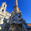 Piazza Navona Fountain by Inge Johnsson