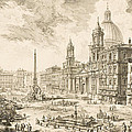 Piazza Navona by Giovanni Battista Piranesi
