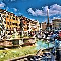 Piazza Navona - Rome by Allen Beatty