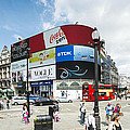 Picadilly Circus London by Chevy Fleet