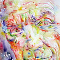 Picasso Pablo Watercolor Portrait.2 by Fabrizio Cassetta