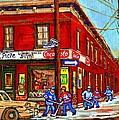 Piche's Grocery Store Bridge Street And Forfar Goosevillage Montreal Memories By Carole Spandau by Carole Spandau