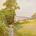 Picking Flowers  by Thomas Frederick Mason Sheard