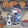 Picking Out The Halloween Pumpkin by Kathy Marrs Chandler