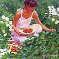 Picking Strawberries by Candace Lovely