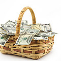 Picnic Basket Full Of Money by Keith Webber Jr