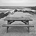 Picnic - Lone Table Overlooking The Ocean In Montana De Oro State Park In Caliornia by Jamie Pham