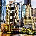 Picture Of Chicago Buildings At Lake Street Bridge by Paul Velgos