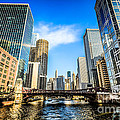 Picture Of Chicago River Skyline At Clark Street Bridge by Paul Velgos