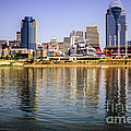Picture Of Cincinnati Skyline And Ohio River by Paul Velgos