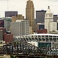Picture Of Cincinnati Skyline Office Buildings  by Paul Velgos