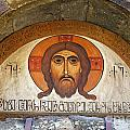 Picture Of Jesus Inside The Tsminda Sameba Cathedral Tbilisi by Robert Preston