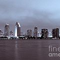 Picture Of San Diego Skyline At Night by Paul Velgos