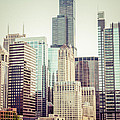 Picture Of Vintage Chicago With Sears Willis Tower by Paul Velgos