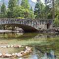 Picturesque Bridge In Yosemite Valley by John M Bailey
