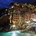 Picturesque Riomaggiore Cinque Terre by Maria Swärd