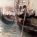 Pier And Saint Marc In Venice by Giovanni Boldini