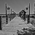 Pier At Fort Wilderness In Black And White Walt Disney World by Thomas Woolworth