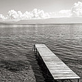 Pier At Lake Ohrid by For Ninety One Days