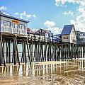 Pier At Low Tide by Jane Luxton
