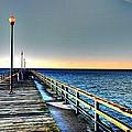 Pier - Chesapeake Bay Bridge #1 by Srinivasan Venkatarajan