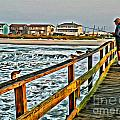 Pier Fishing 2 by Scott Hervieux