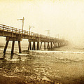 Pier In A Storm by Skip Nall