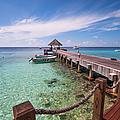 Pier Into Blue. Resort Vivanta By Taj by Jenny Rainbow