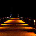 Pier Night Lights by Volker blu Firnkes
