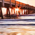 Pier Sunrise Too by Alice Gipson