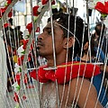 Pierced Hindu Devotee Wears Kavadi At Thaipusam Singapore by Imran Ahmed