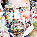 Pierre-auguste Renoir Watercolor Portrait by Fabrizio Cassetta