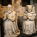 Pierre Jeannin And His Wife Sculpture Cathedral Autun by Christiane Schulze Art And Photography